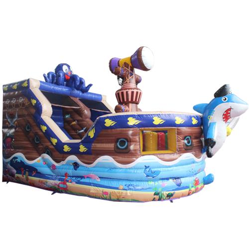 Acheter le Château Gonflable Bateau pieuvre avec toboggan