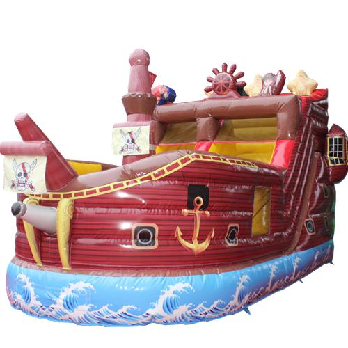 Acheter le Château Gonflable Bateau pirate avec toboggan