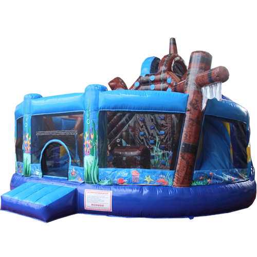 Acheter le Château Gonflable Multiplay Sous-marin avec toboggan