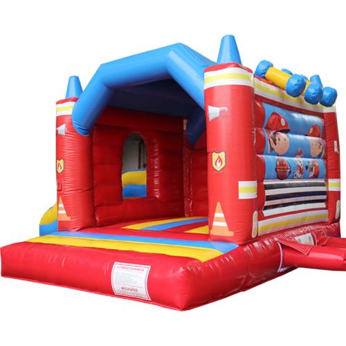Acheter le Château Gonflable Pompiers avec toboggan
