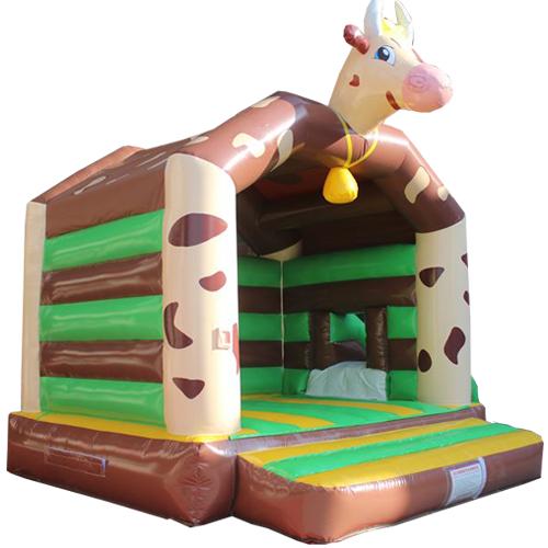Acheter un château gonflable Vache avec tobogan
