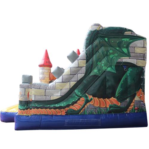 Acheter un château gonflablechâteau de chevalier avec tobogan