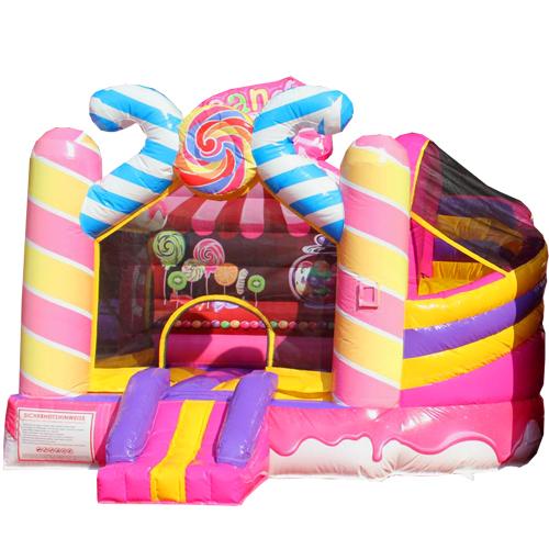 Acheter le château gonflable Bonbons avec Toboggan