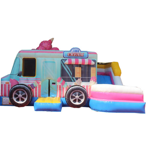 Acheter le château gonflable Camion de glaces avec Toboggan