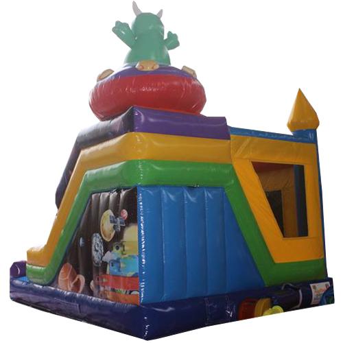 Acheter le château gonflable Extraterrestre avec Toboggan -5